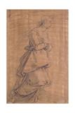 The Archangel Gabriel Kneeling to the Right, Study for an Annunciation Lámina giclée por Jacopo Chimenti Empoli