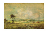 Effects of a Storm, View of the Plain of Montmartre Giclee Print by Théodore Rousseau