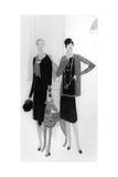 Dress Designs by Chanel, Illustration from 'Vogue' Magazine, 1 April, 1927 Reproduction procédé giclée