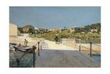 Bridge to Island of Elba, 1888 Giclée-tryk af Telemaco Signorini