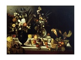 Still Life with Flowers and Fruit Giclée-vedos tekijänä  Caravaggio