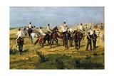 Exercise of Recruits, 1885-1890 Lámina giclée por Giovanni Fattori