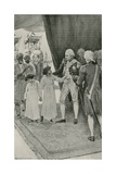 The Sons of Sultan Tippu are Received by Lord Cornwallis as Hostages Impressão giclée por William Henry Margetson