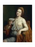 Sophonisba Drinking Poison Giclée-tryk af Giovanni Francesco Caroto