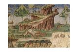 Arno at St Nicholas Weir Bridge Giclée-Druck von Gaspar van Wittel