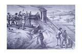 Defense of Livorno from Fort San Pietro Lámina giclée por Giovanni Fattori