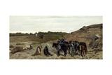 Episode of Campaign Against Brigandage, 1863 Lámina giclée por Giovanni Fattori