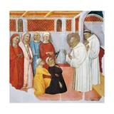 St Bernard of Clairvaux Exorcising Someone Possessed Giclee Print by Ferrer Bassa