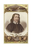 Half-Length Portrait of a Man Wearing 18th-Century Clothing Giclée-tryk