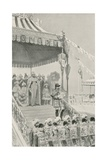 "The Queen Being Proclaimed ""Empress of India"" at Delhi Impressão giclée por William Henry Margetson"