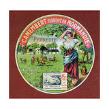 Label for 'Le Perrette Camembert', Made in Authou, Normandy Giclée-Druck