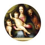 The Holy Family with the Infant Saint John the Baptist Giclée-tryk af Domenico Beccafumi