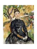 Madame Cezanne in Greenhouse, 1891 Reproduction procédé giclée par Paul Cézanne