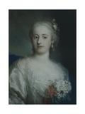 Portrait of Anne Carlotta Gauthier Giclee-trykk av Rosalba Carriera