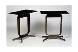 Art Deco-Style Tables, Bloch Model, 1920-1940 Gicléetryck av Jacques-emile Ruhlmann