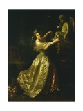 Young Woman Decorating the Statue of Love Giclee Print by Alexander Roslin