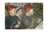 Procession of the Magi Kings to Bethlehem, 1459 Giclée-tryk af Benozzo Gozzoli