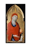 The Magdalene, Detail of Altarpiece of St Dominic Giclée-tryk af Simone Martini