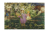 Children in an Orchard in Blossom; Les Enfants Un Verger En Fleurs, 1914 Giclee Print by Henri Lebasque