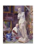 Ernest Renoux in His Studio, 50, Rue Saint-Didier Giclee Print by Jules Ernest Renoux
