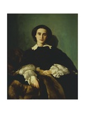 Portrait of the Noblewoman Morrocchi Giclee Print by Antonio Puccinelli