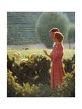 Romantic Walk, 1901-1902 Giclee Print by Giuseppe Pellizza da Volpedo