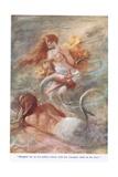 The Forsaken Merman, Illustration from 'Stories from the Poets' Giclee Print by Arthur C. Michael