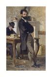 Portrait of Lawyer Bongiovanni Lámina giclée por Giovanni Fattori