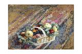 Still Life with a Basket of Fruit; Nature Morte Au Panier De Fruits Giclee Print by Henri Lebasque