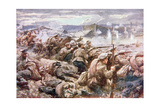 An Heroic Russian Rearguard Action in the Great Polish Retreat Giclee Print by Arthur C. Michael