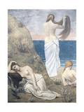 Young Girls at the Seaside, 1879 Giclee Print by Pierre Puvis de Chavannes
