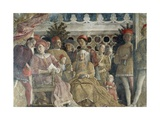 Court Wall, the Central Scene, 1465-1474 Giclee Print by Andrea Mantegna