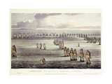 The Commencement of the Battle of Trafalgar, October 21st 1805, 1817 Giclee Print by Thomas Whitcombe