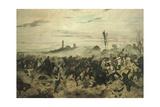 The Battle of Montebello, 1862 Lámina giclée por Giovanni Fattori