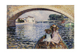 Young Girls on a Barge; Jeunes Filles En Barques, 1903 Giclee Print by Henri Lebasque