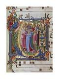 Initial Letter of Choral, Miniature Giclée-Druck von Lorenzo Monaco