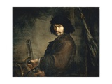 Self-Portrait Dressed as Warrior Giclée-tryk af Salvator Rosa