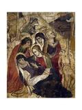 Pious Women, Detail from Calvary Giclée-tryk af Giacomo Jaquerio