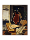 Table in Front of a Balcony; Table Devant Le Balcon, 1926 Giclée-tryk af Louis Marcoussis