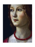 Portrait of a Young Girl, 1485 Giclée-tryk af Domenico Ghirlandaio
