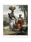 Negro Women of Rio-Janeiro, from 'Picturesque Voyage to Brazil', 1835 Giclee Print by Johann Moritz Rugendas