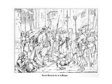 Emperor Henry IV at Bingen Giclee Print by Alfred Rethel