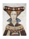 Figure of Hippolyta, Detail of a Fresco Giclée-tryk af Giacomo Jaquerio