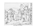 Knight John Bromser of Rudesheim, Engraved by J. Dielmann Giclee Print by Alfred Rethel