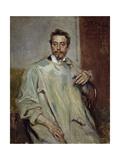 Portrait of Sculptor Giovanni Mayer Giclée-Druck von Umberto Veruda