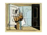 Monday, the Open Window; Lundi, La Fenetre Ouverte, 1929 Giclée-tryk af Louis Marcoussis