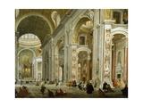 Interior of St. Peter's Basilica, 1754 Reproduction procédé giclée par Giovanni Paolo Pannini