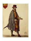 Neapolitan Ambassador Giclée-Druck von Jan van Grevenbroeck