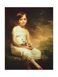 Little Girl with Flowers or Innocence, Portrait of Nancy Graham Giclee-trykk av Sir Henry Raeburn
