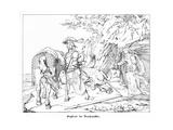 Siegfried, the Dragonslayer, Engraved by J. Dielmann Giclee Print by Alfred Rethel